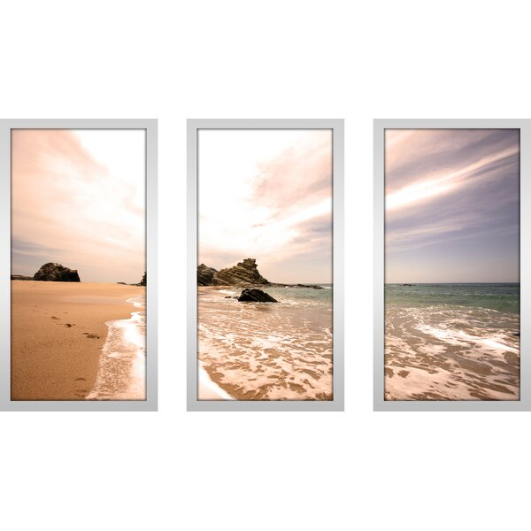 Lifes A Beach Ii 3 Piece Framed Photographic Print Set by Picture Perfect International