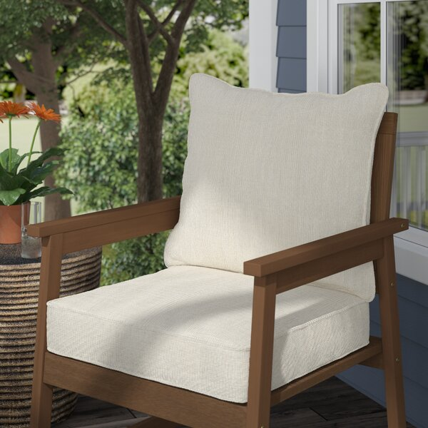 Onsale Piped 2 Piece Indoor Outdoor Lounge Chair Cushion Set By