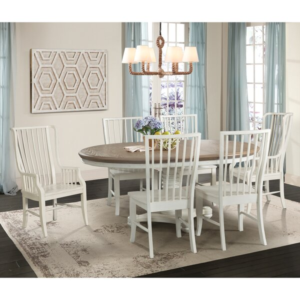Fleeton 7 Piece Extendable Solid Wood Dining Set by August Grove