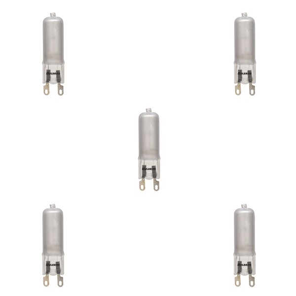 G9 Dimmable Halogen Capsule Light Bulb Frosted (Set of 5) by Bulbrite Industries