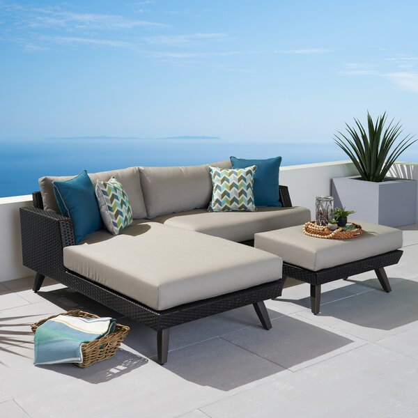 Wilhelm Patio Sectional with Sunbrella Cushions by Highland Dunes Highland Dunes