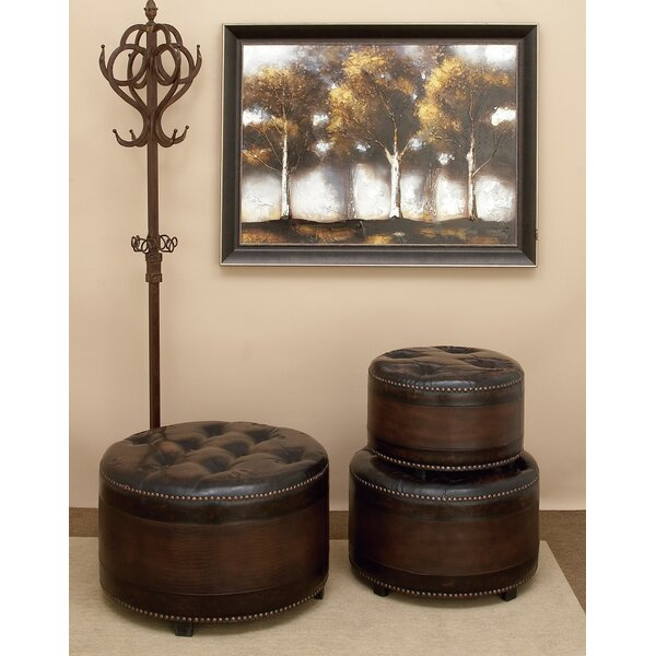 3 Piece Tufted Ottoman Set by Cole & Grey
