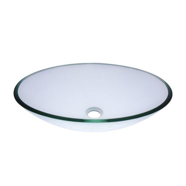 Ovale Glass Oval Vessel Bathroom Sink by Novatto