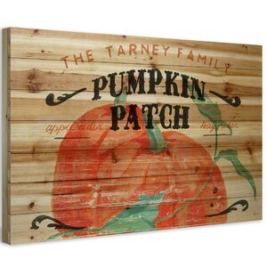 'Pumpkin Patch II' Textual Art on Wood by Laurel Foundry Modern Farmhouse