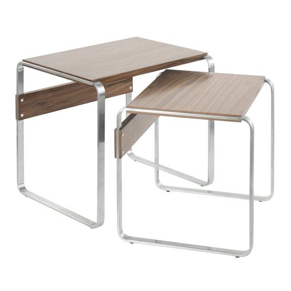 Ryker Mid-Century 2 Piece Nesting Tables by Latitude Run Latitude Run