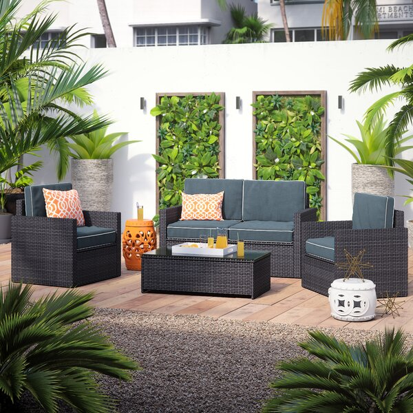 Mendelson 4 Piece Sofa Seating Group with Cushions by Brayden Studio