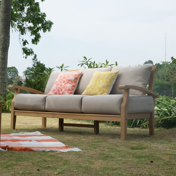 Summerton Teak Patio Sofa with Cushions by Birch Lane™ Heritage