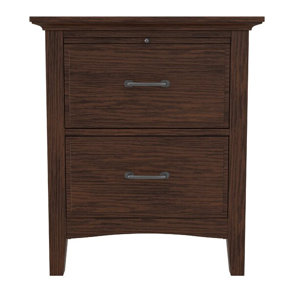 Moradian Modern 2 Drawer Nightstand by August Grove