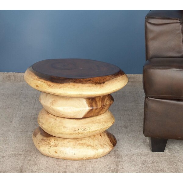 Suar Wood Accent Stool by Cole & Grey