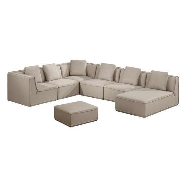 Romario Modular Sectional with Ottoman by Modern Rustic Interiors