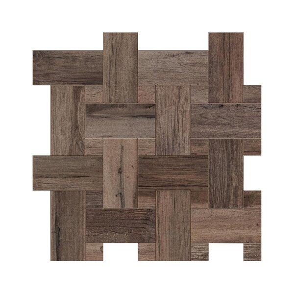 Travel Intreccio Décor 12 x 12 Porcelain Wood Look Tile in West Brown by Travis Tile Sales