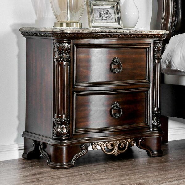 Madeleine 2 Drawer Nightstand by Astoria Grand