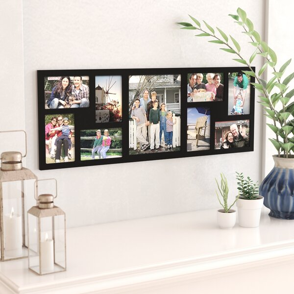 9 Opening Wood Wall Hanging Picture Frame by Latitude Run
