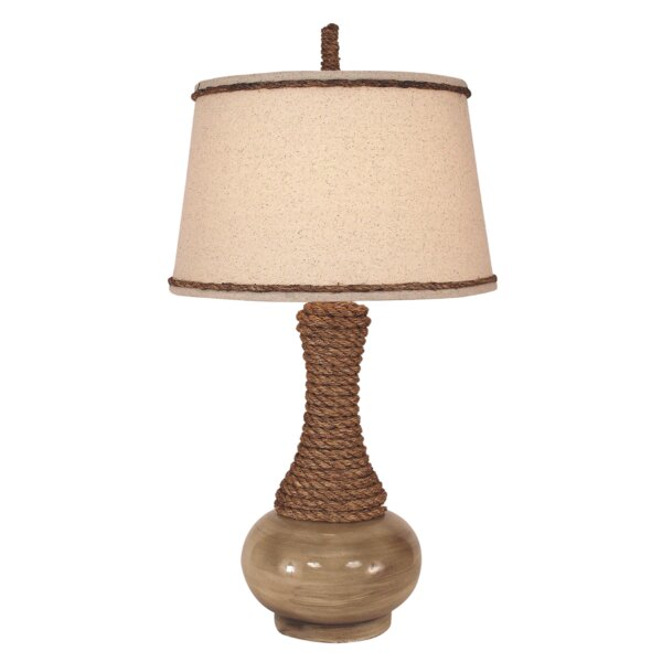 Sowell 29 Table Lamp with Big Rope Accent by Bay Isle Home