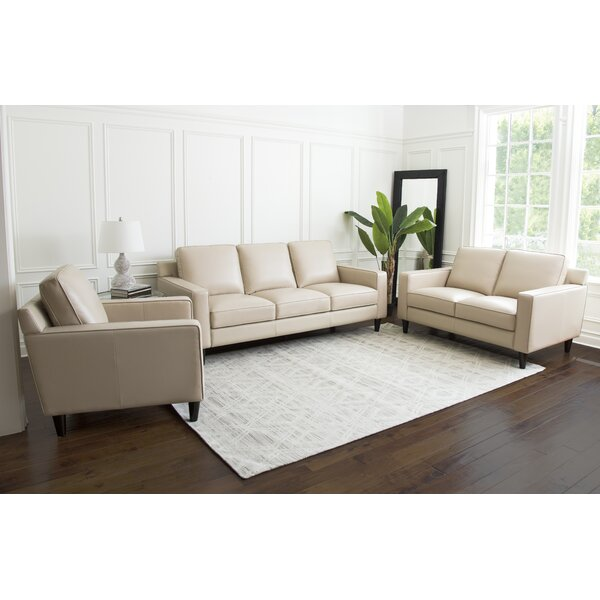 Oaklynn 3 Piece Leather Living Room Set by Darby Home Co