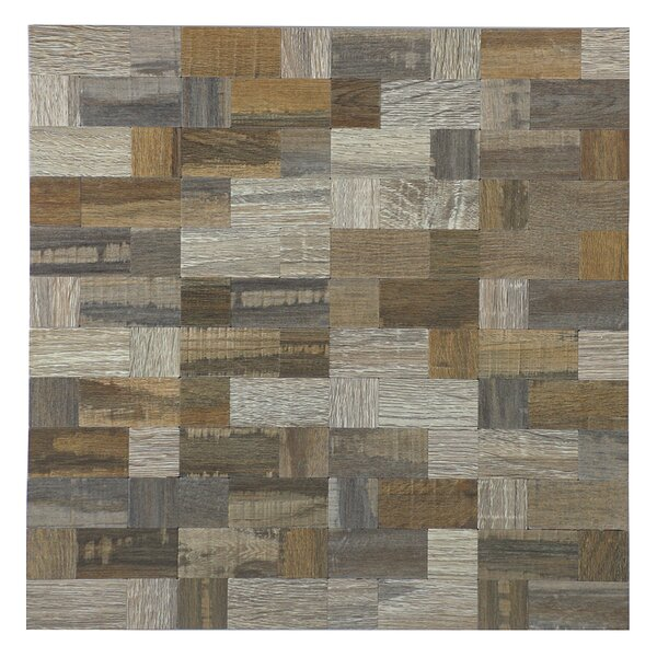 12 x 12 Peel & Stick Mosaic Tile in Beige by versa