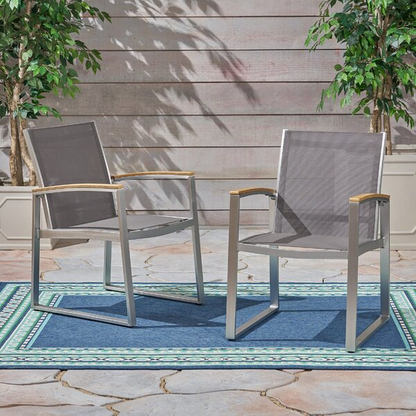 Bruce Patio Dining Chair (Set of 2) by Modern Rustic Interiors