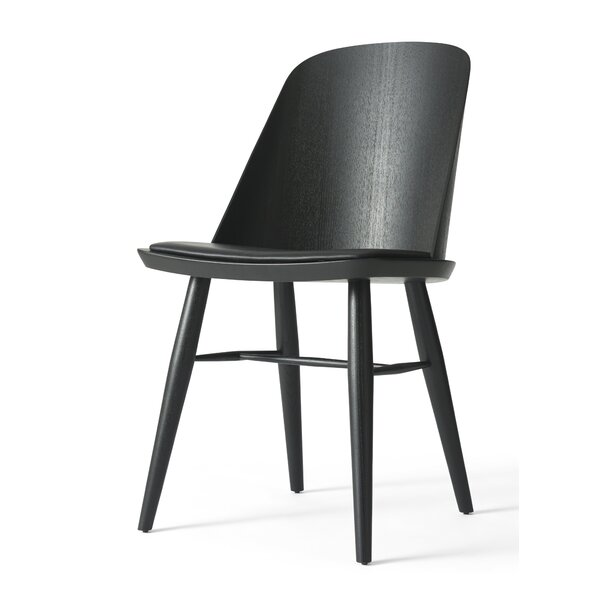 Synnes Genuine Leather Upholstered Dining Chair by Menu