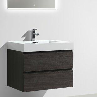 Leni 30 Wall Mounted Single Bathroom Vanity Set ByOrren Ellis