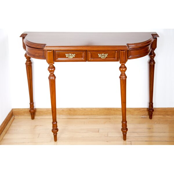 Review Sheraton Style Reeded Console Table