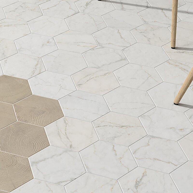 Karra Carrara 7 X 8 Porcelain Field Tile In