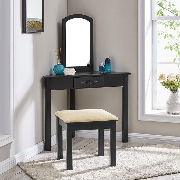 West Harptree Vanity Set with Mirror by Ebern Designs