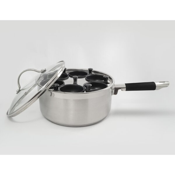 Professional 6 Cup Stainless Egg Poacher by Cook Pro
