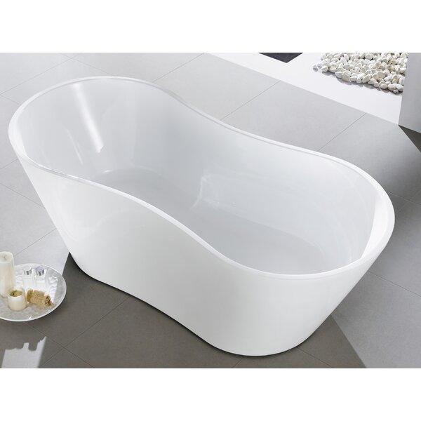 Smile 66 x 30'' Freestanding Soaking Bathtub by Eviva