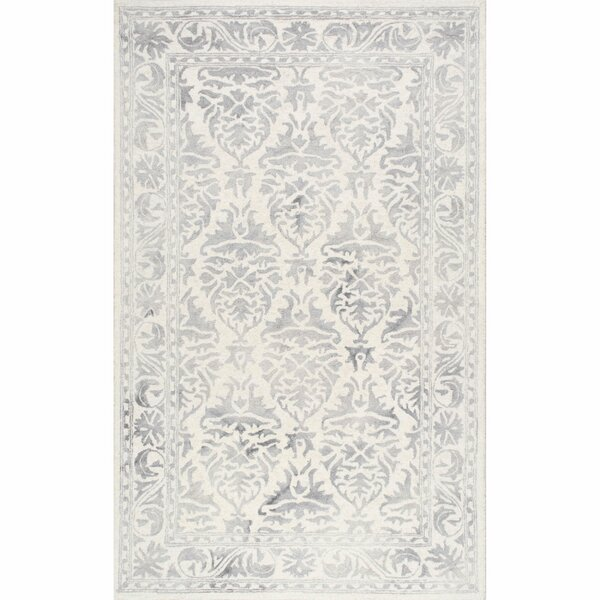 Mount Salem Hand-Woven Wool Light Gray Area Rug by Alcott Hill