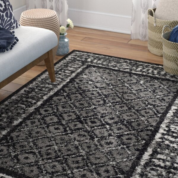 Norwell Black/Silver Area Rug by Mistana