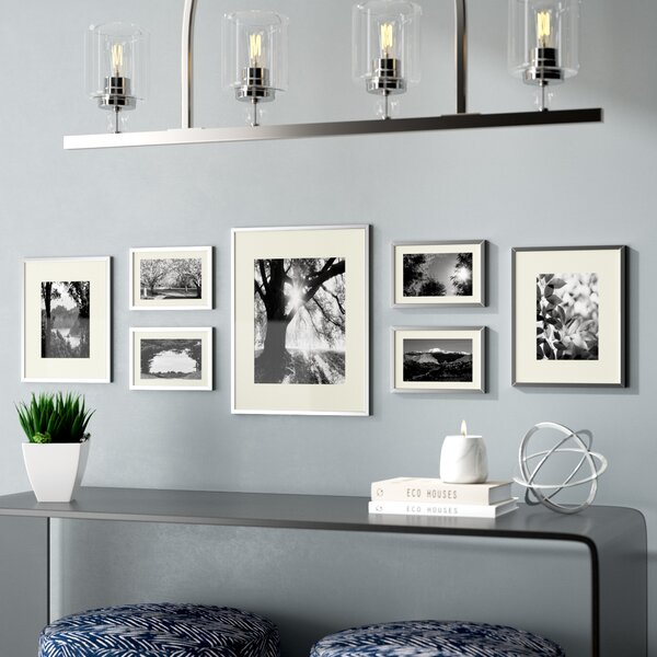 Giltner 7 Piece Gallery Wall Aluminum Picture Frame Set by Ivy Bronx