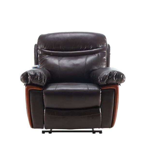 Burghfield Faux Leather Power Lift Assist Recliner with Massage W003381945