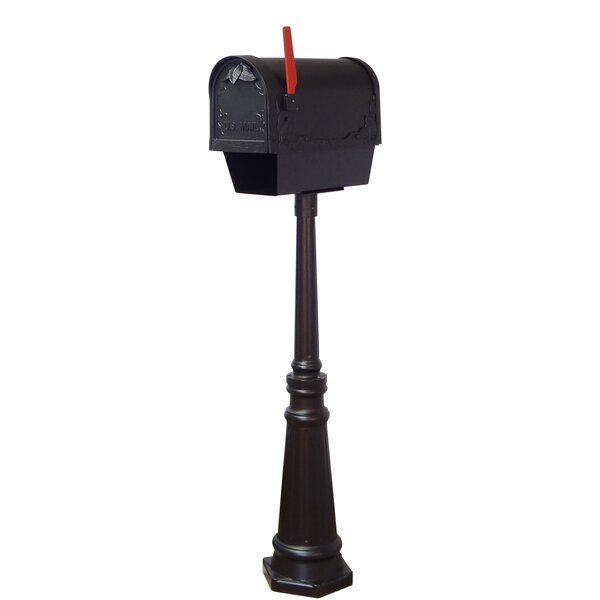 Floral Curbside Mailbox with Tacoma Post Included by Special Lite Products