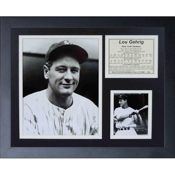 Lou Gehrig Framed Memorabilia by Legends Never Die