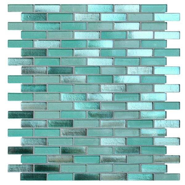 Opal 0.63 x 1.88 Glass Mosaic Tile in Biscayne Bay by Kellani