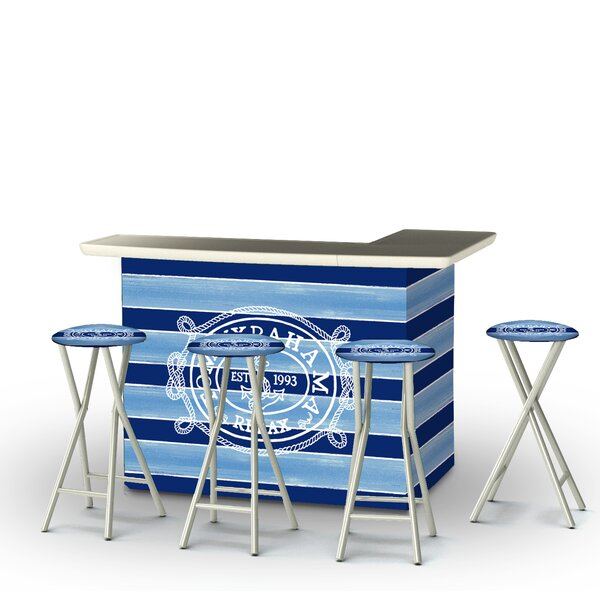 Blaise 5-Piece Bar Set by Rosecliff Heights