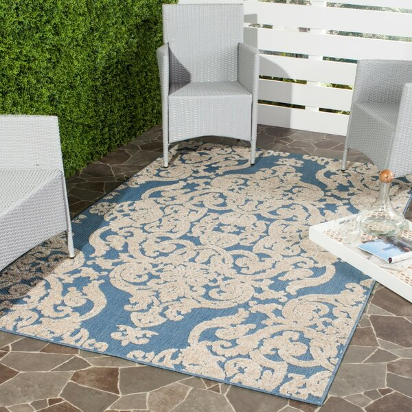 Lievin Blue Indoor/Outdoor Area Rug by Lark Manor