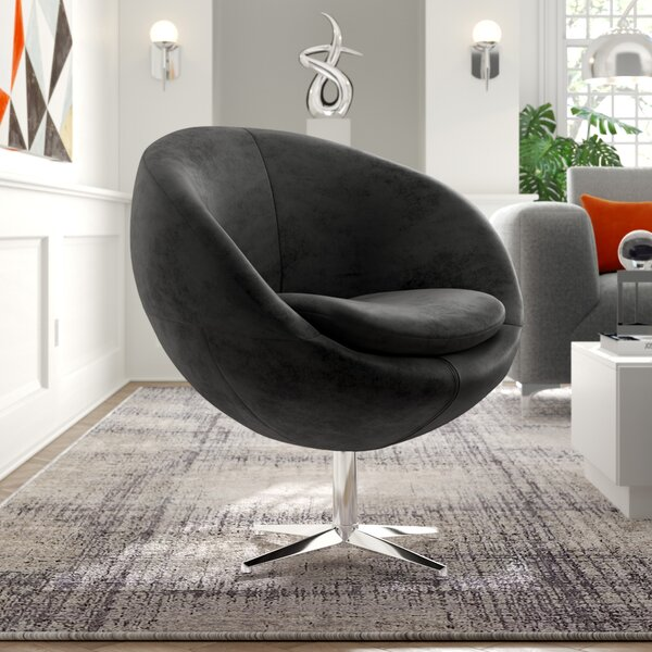 Swivel Barrel Chair by Orren Ellis
