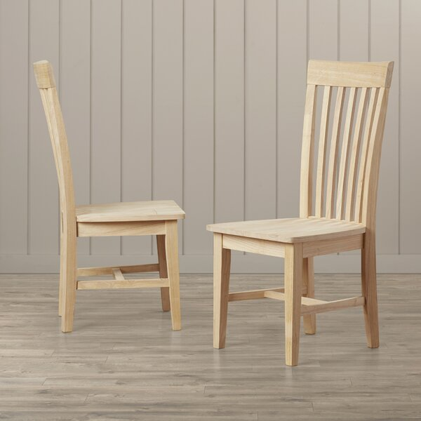 Lynn Slat Back Solid Wood Dining Chair (Set of 2) by Mistana