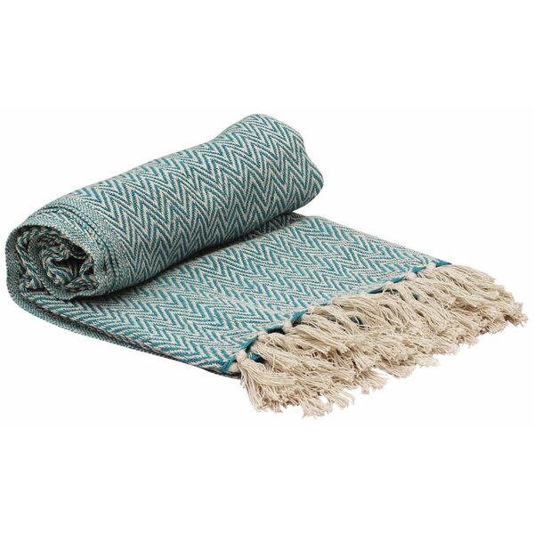 Almodovar Cotton Throw Blanket With Tassels by Wrought Studio