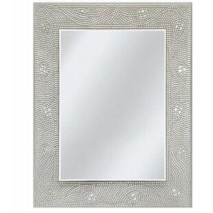 Rosdorf Park Dockery Crystal Mosaic Rectangle Accent Wall Mirror