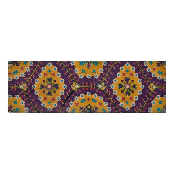 Nickols Purple/Yellow Area Rug by Bloomsbury Market