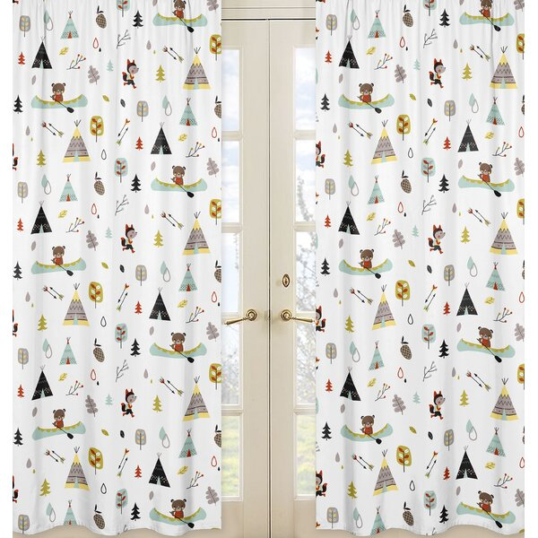 Outdoor Adventure Semi-Sheer Rod Pocket Curtain Panels (Set of 2) by Sweet Jojo Designs