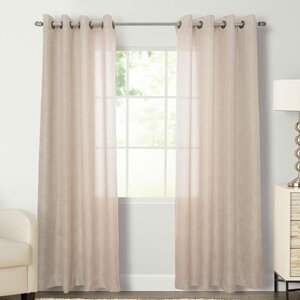 Flynn Solid Grommet Single Curtain Panel