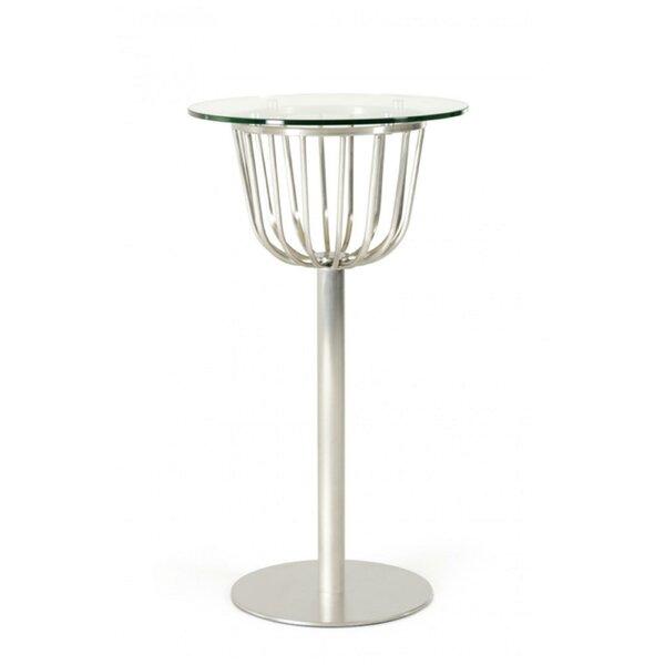 Christopherso Glass Top Pub Table by Orren Ellis