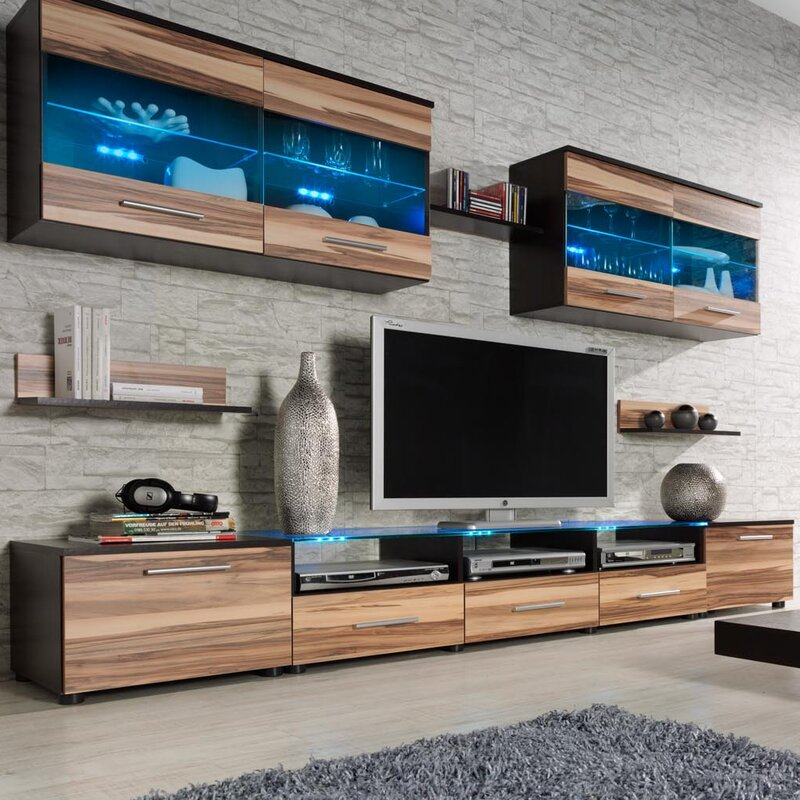 Orren Ellis Cerie Entertainment Center & Reviews | Wayfair