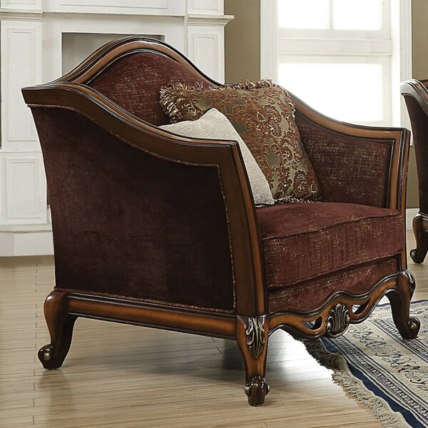 Sweitzer Arched Backrest Armchair with 2 Pillows by Astoria Grand