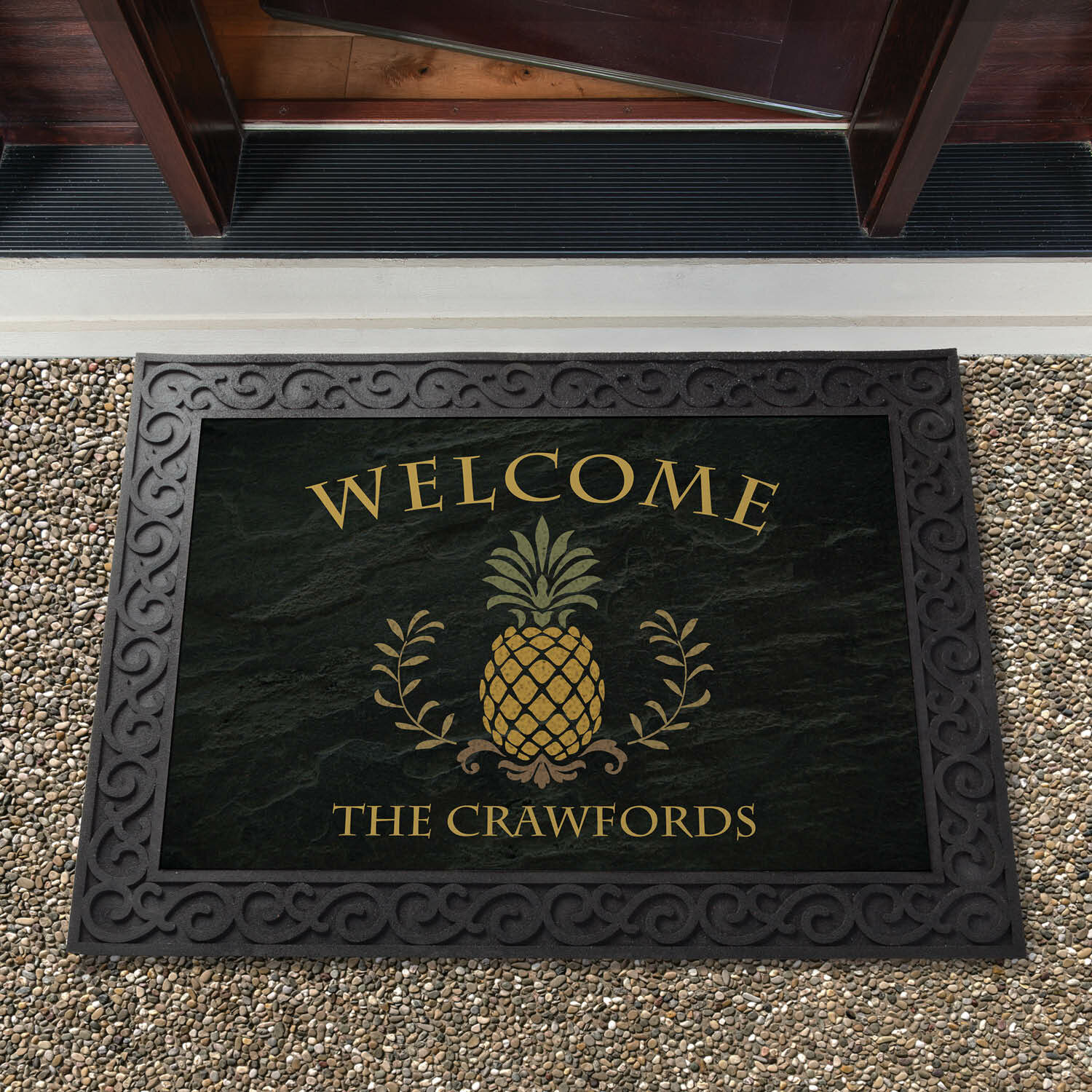 Personalized Welcome Mat Welcome Mat Custom Door Mat Front Door Mat Personalized Gift Family Name Door Mat Personalized Doormat