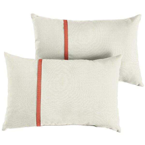 Flynt Indoor/Outdoor Sunbrella Lumbar Pillow (Set of 2) by Charlton Home
