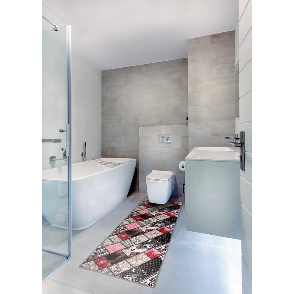 Bunce Print Absorbent Soft Multiple Non-Slip Patchwork Bath Rug